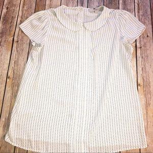 LOFT — Short Sleeve Blouse Size Medium